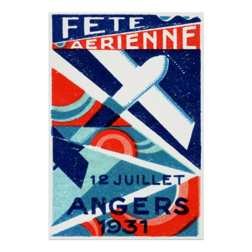 Salón aeronáutico internacional francés 1931 póster