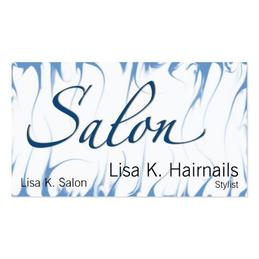 Salon Afire Blue Business Card
