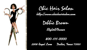 African american hair stylist business cards templates zazzle salon african american business cards colourmoves Images