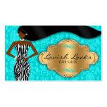 Salón afroamericano del estilista del oro del trul plantilla de tarjeta de negocio