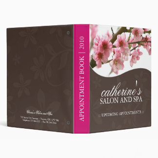 Salon and Spa Appointment Book 3 Ring Binder