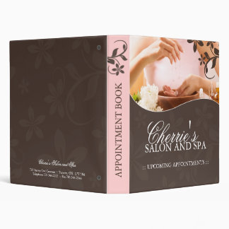 Salon and Spa Appointment Book 3 Ring Binders
