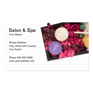 Salon and Spa Business Card Business Card Templates