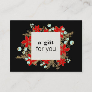 salon and spa christmas holiday gift certificate