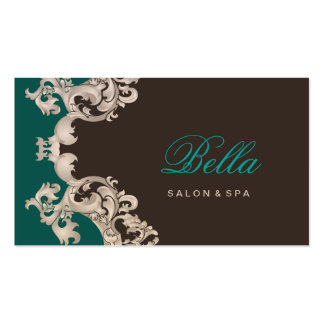 salon and spa elegant luxe business card