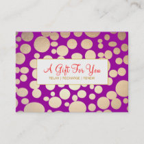 Salon and Spa Faux Gold Purple Gift Certificate