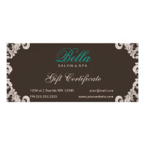 salon and spa Gift Certificate