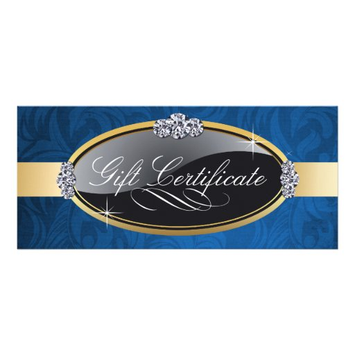 SALON AND SPA GIFT CERTIFICATE RACK CARD DESIGN
