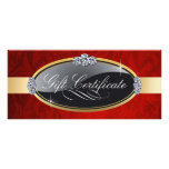 SALON AND SPA GIFT CERTIFICATE RACK CARDS