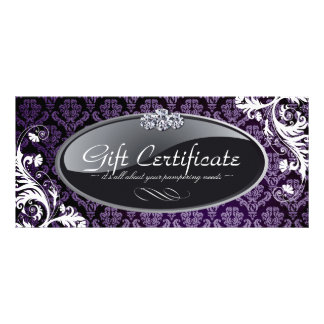 SALON AND SPA GIFT CERTIFICATE RACK CARD