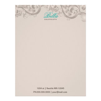salon and spa Letterheads Letterhead