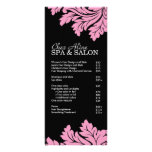 Salon and Spa Price List & Rack Card