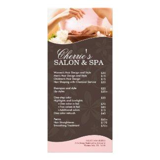 Salon and Spa Rack Card rackcard