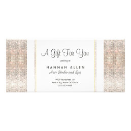 Salon and Spa Silver Sequins Gift Certificate