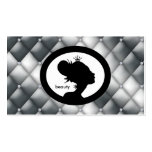 Salon Appointment Card Crown Woman Silhouette Business Card