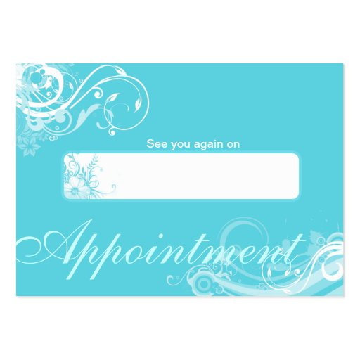 Salon Appointment Card Spa Floral Swirls BB Business Cards