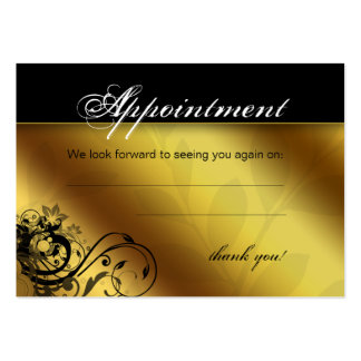 Salon Appointment Card Spa Gold Floral Butterfly Large Business Cards (Pack Of 100)