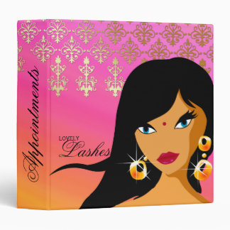 Salon Binder Appointment Book Bindi Woman Pink Org