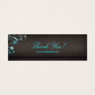 Salon Bookmark Spa Butterfly Floral Mini Business Card
