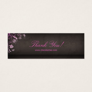 Salon Bookmark Spa Butterfly Floral pink Mini Business Card