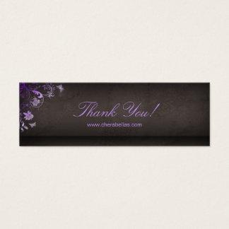 Salon Bookmark Spa Butterfly Floral purple Mini Business Card