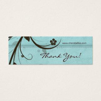 Salon Bookmark Spa Floral watery blue Mini Business Card