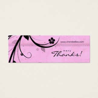 Salon Bookmark Spa Floral watery pink Mini Business Card