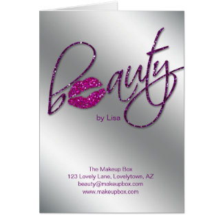 Salon Brochure Beauty Makeup Artist Cosmetologist Card