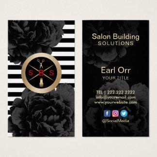 Salon Building Solutions Social Media Modern Business Card