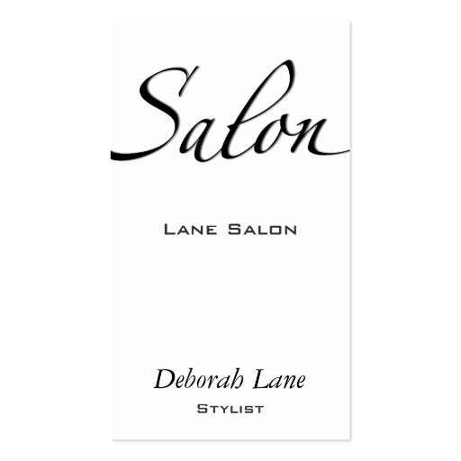 Salon Business Card Template