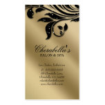 Salon Business Card Elegant Black Gold