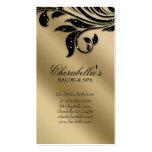 Salon Business Card Elegant Black Silver Gold