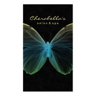 Salon Business Card Spa Butterfly Blue Yellow