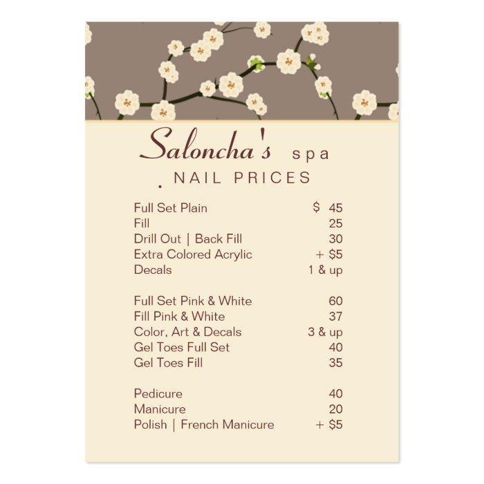 Salon business card spa cherry blossom beige 2 zazzle - Slon beige ...