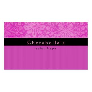 Salon Business Card Spa Pink Damask Floral 2