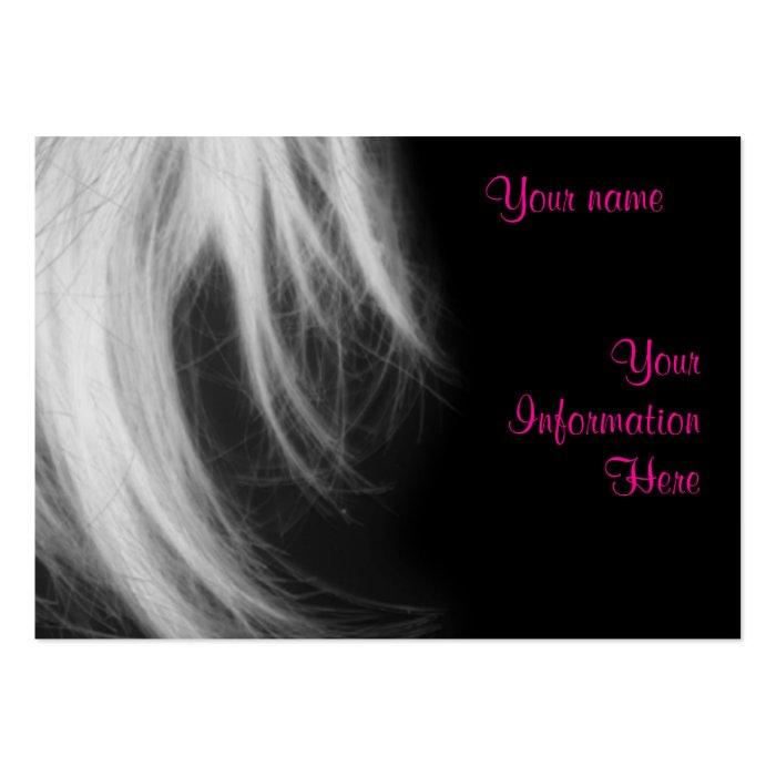 Salon business profile card template