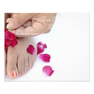 Salón color de rosa rosado fucsia bonito del flyer personalizado