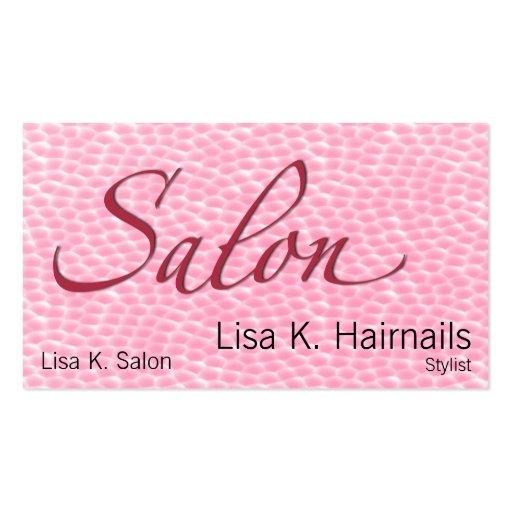 Salon Coral Bubbles Business Card