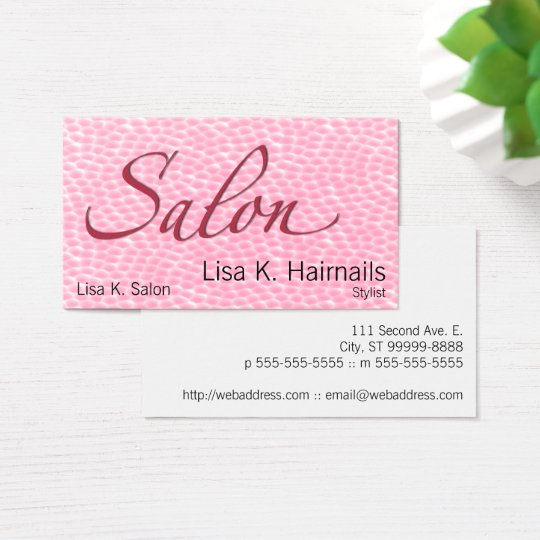 Salon Coral Bubbles Business Card