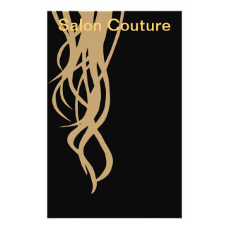 Salon Couture Flyer in Black