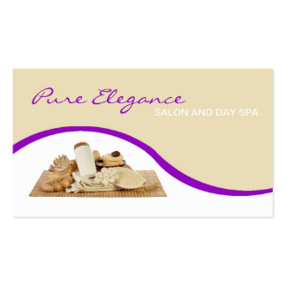 Salon Day Spa Massage Therapist Supp Business Card