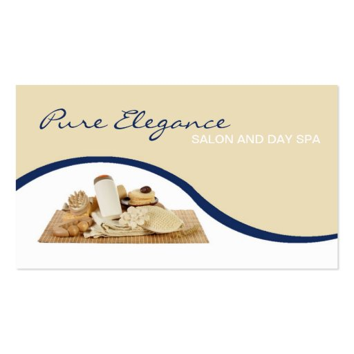 Salon Day Spa Massage Therapist Supp Business Card