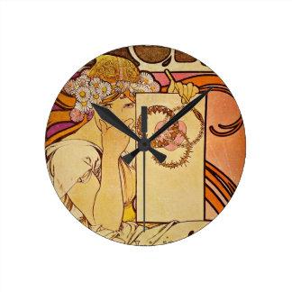 Salón de 100 una mujer reloj redondo mediano