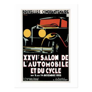 Salon de Automobile Postcard