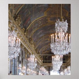Salón de baile magnífico, palacio de Versalles Posters