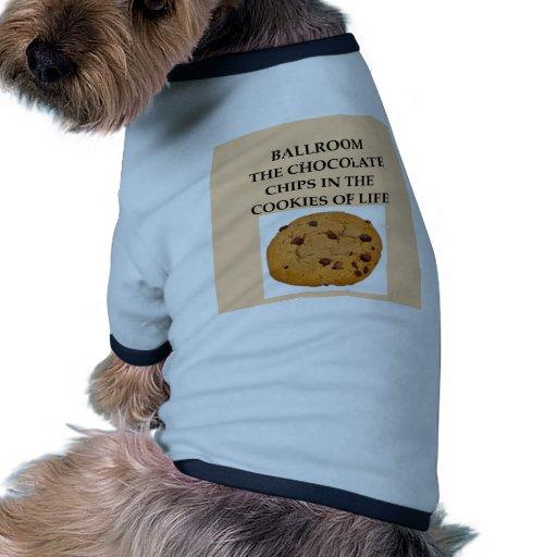 salón de baile camisas de mascota