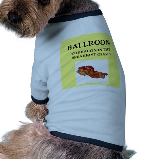 salón de baile camisetas de perro