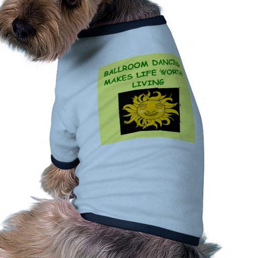 salón de baile camisas de perritos
