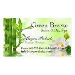 Salón de bambú del masaje del cuidado de piel del  tarjeta de visita