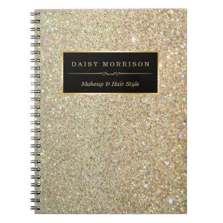 Salón de belleza de moda del maquillaje de las spiral notebooks